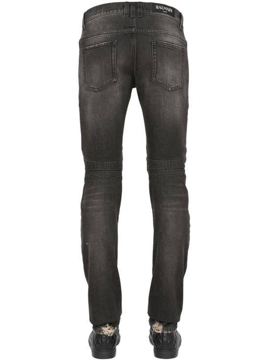 Balmain Balmain Washed Cotton Denim Black Biker $990 Authentic Jeans Size 31 New Size US 31 - 2