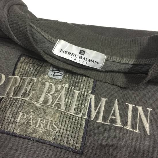 Balmain SALE !!! Vintage PIERRE BALMAIN Paris Big Logo Embroidered Crewneck Pullover Jumper Nice Design Size US L / EU 52-54 / 3 - 3