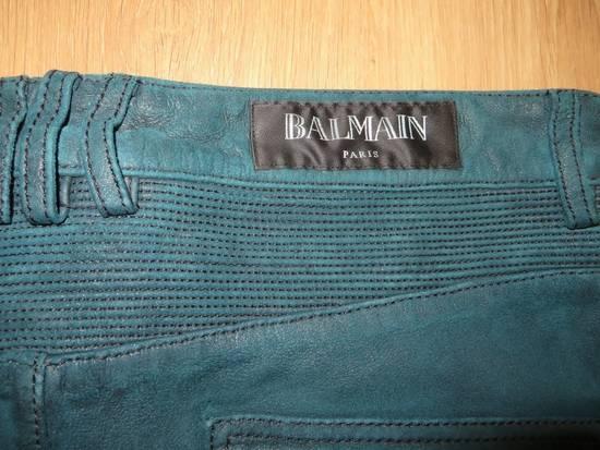 Balmain Suede biker pants Size US 34 / EU 50 - 5