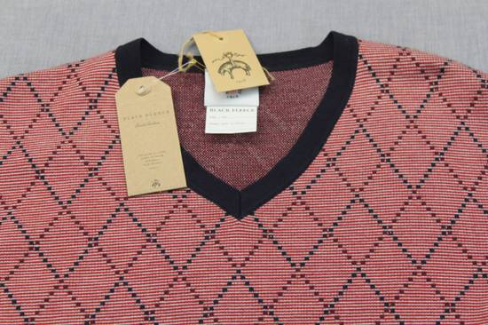 Thom Browne Burgundy Argyle V-Neck Sweater Size 4 NEW Size US XL / EU 56 / 4 - 5