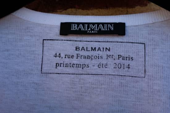 Balmain White Ribbed Knit Tank Top Size US L / EU 52-54 / 3 - 4