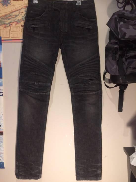 Balmain BALMAIN Paris Biker Jeans Size US 29 - 1