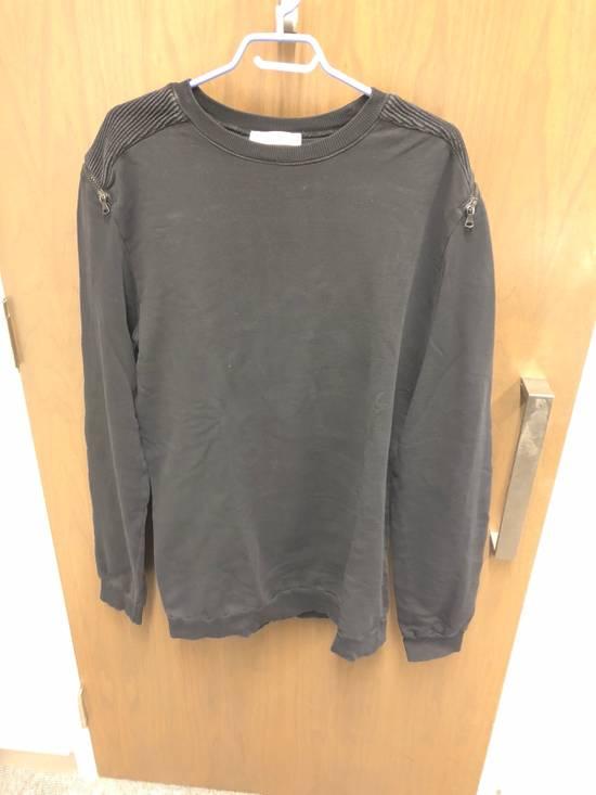 Balmain Black Oversized Balmain Biker Sweatshirt Size US L / EU 52-54 / 3