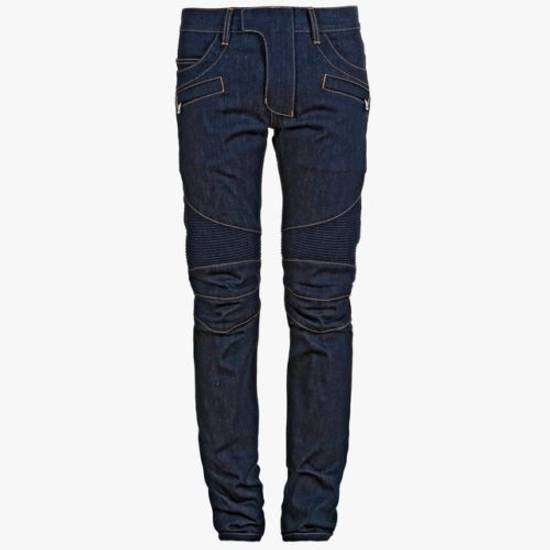 Balmain Denim Bikers Size US 33