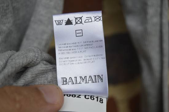 Balmain Light Grey Ribbed Roll Neck T-shirt Size US M / EU 48-50 / 2 - 5