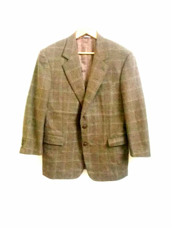 Givenchy Givenchy Gentleman Selection Couture Wool Cashmere Brown Plaid Blazer Size 46R