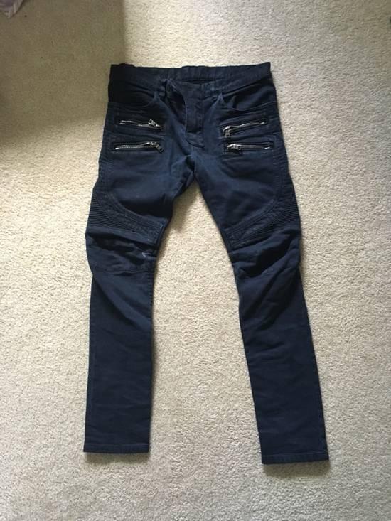 Balmain Black Bike Jeans Size US 32 / EU 48