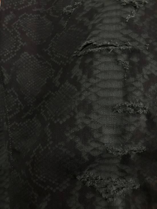 Balmain Size 36 - Distressed Snake Print Rockstar Jeans - FW17 - RARE Size US 36 / EU 52 - 7
