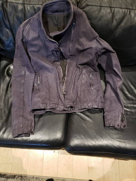 Julius AW12 Moldable Jut Neck Leather Jacket NEW Size US L / EU 52-54 / 3 - 4