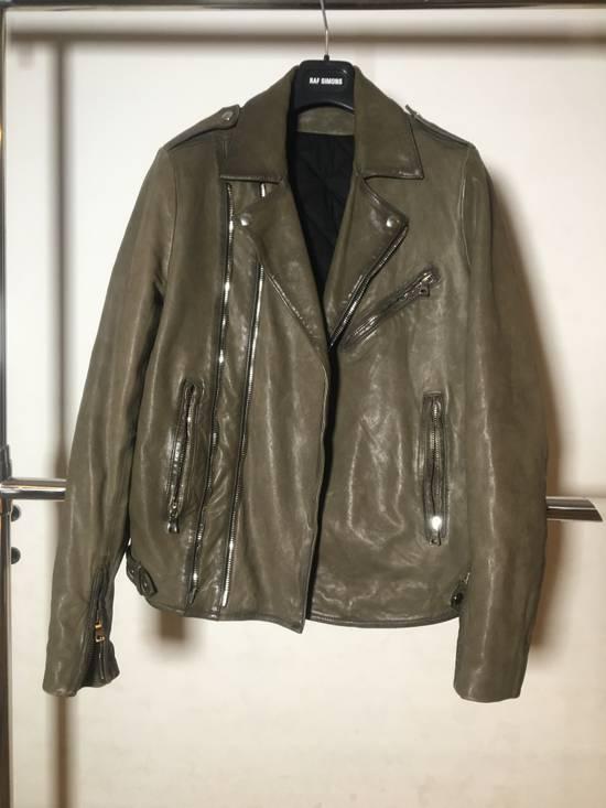 Balmain Olive leather jacket Size US M / EU 48-50 / 2