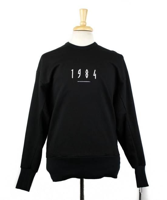 Julius 7 Men's Black Cotton '1984' Crewneck Sweater Size 3/M Size US M / EU 48-50 / 2
