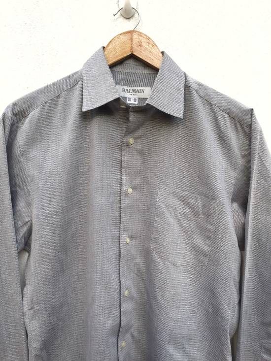 Balmain Plaid Single Pocket Button Up Shirt Size US M / EU 48-50 / 2