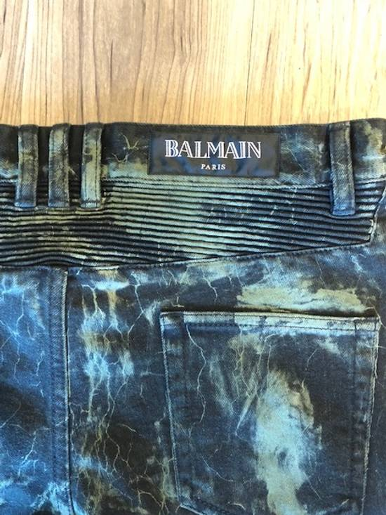 Balmain Extremely Rare Brand New Balmains- Marble-Print Skinny Moto Jeans Size US 32 / EU 48 - 6