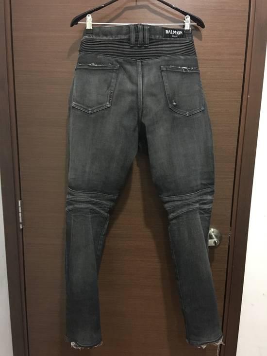 Balmain Balmain FW16 black distressed biker jeans Size US 34 / EU 50