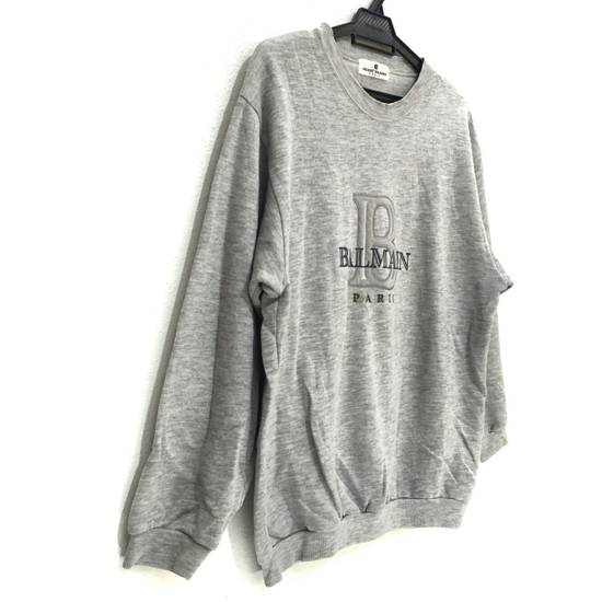 Balmain Vtg PIERRE BALMAIN PARIS Big Logo Made In JAPAN Gray MEDIUM Sweatshirt Jumper Size US M / EU 48-50 / 2 - 1