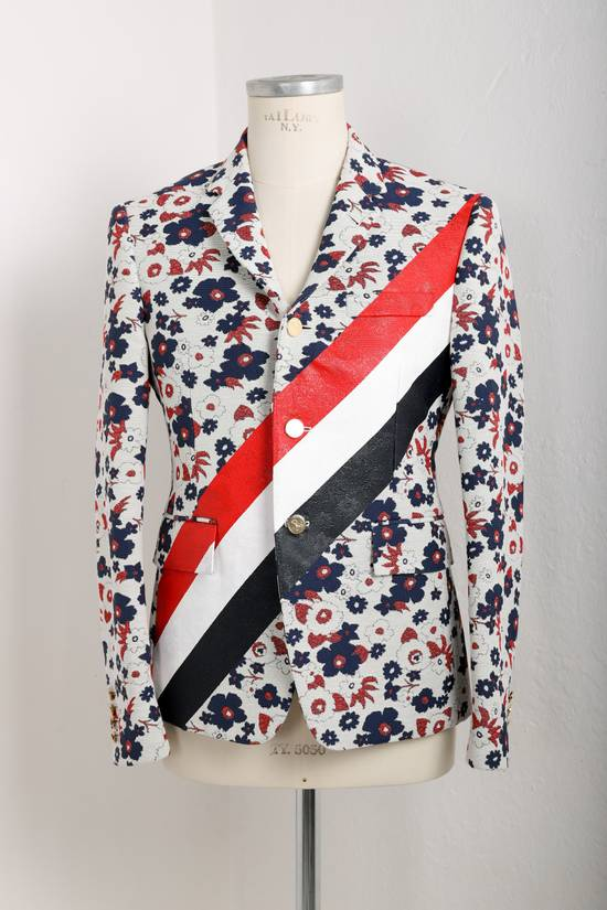 Thom Browne Floral jacket with RWB stripes Size 42R - 1