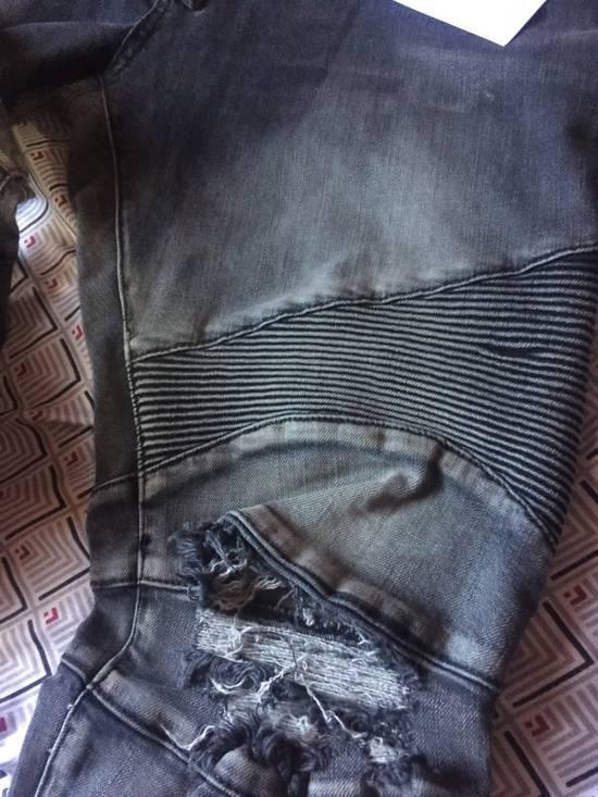 Balmain Distressed Biker Jeans Size US 34 / EU 50 - 4