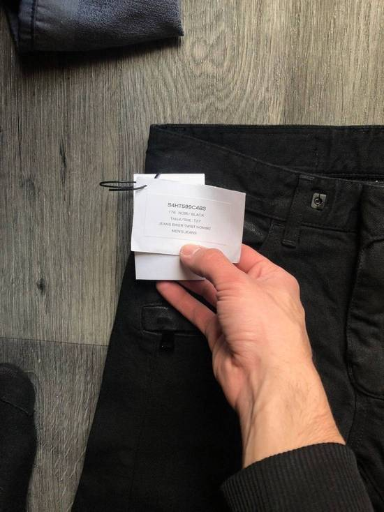 Balmain Balmain Authentic $1090 Waxed Denim Biker Jeans Size 27 Slim Fit Brand New Size US 27 - 4