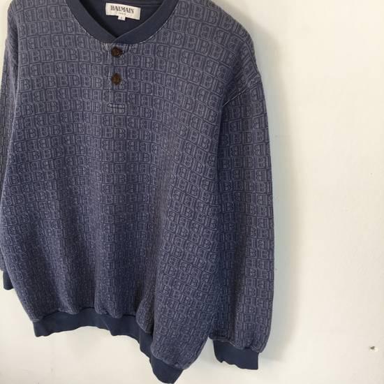 Balmain ( Last Drop ) Vintage 90s BALMAIN Sweatshirt Full Logo Blue Pullover Jumper Size Large Size US L / EU 52-54 / 3 - 2