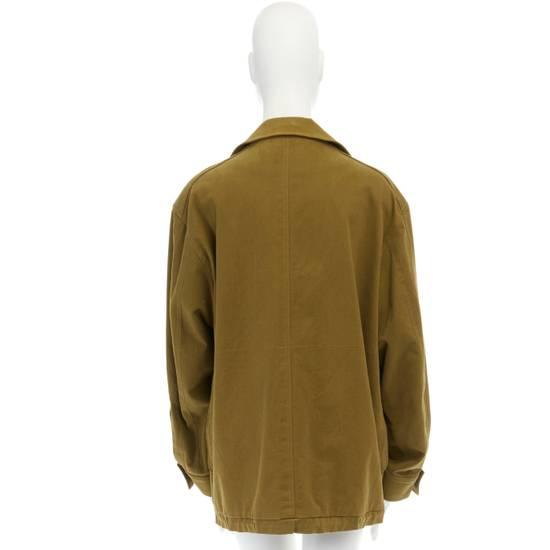 Balmain BALMAIN Pre14 army green stretch military zip up oversized jacket FR40 US8 UK12 Size US M / EU 48-50 / 2 - 6
