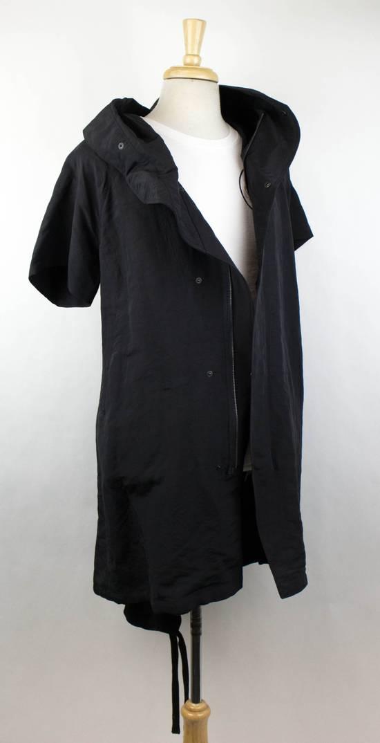 Julius Men's Black Linen Blend Fishtail Parka Coat Size 0/2XS Size US XS / EU 42 / 0 - 2