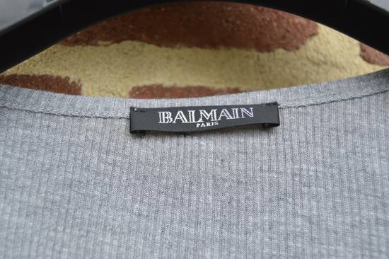 Balmain Grey Ribbed Long Sleeve T-shirt Size US M / EU 48-50 / 2 - 2
