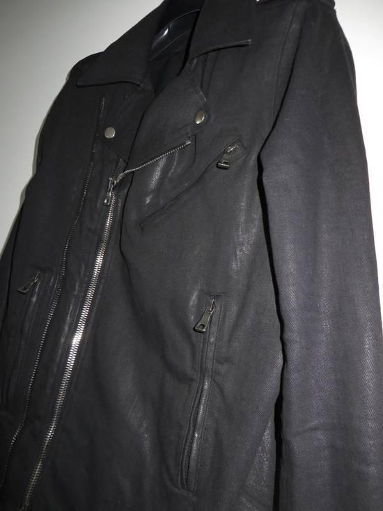 Balmain Waxed denim perfecto biker jacket Size US M / EU 48-50 / 2 - 4
