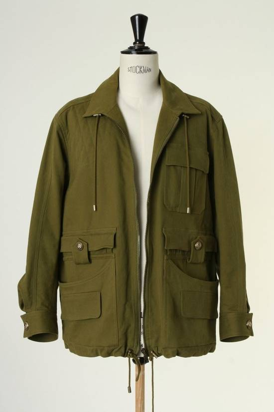 Balmain BALMAIN Pre14 army green stretch military zip up oversized jacket FR40 US8 UK12 Size US M / EU 48-50 / 2 - 6