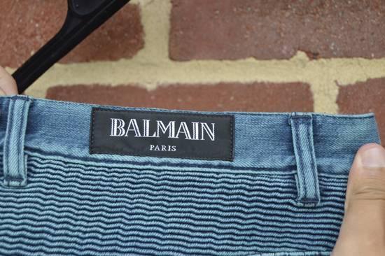 Balmain Turquoise Double Zip Biker Jeans Size US 34 / EU 50 - 9