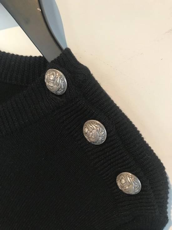 Balmain Balmain Black Gold Striped Wool Sweater Size US L / EU 52-54 / 3 - 4