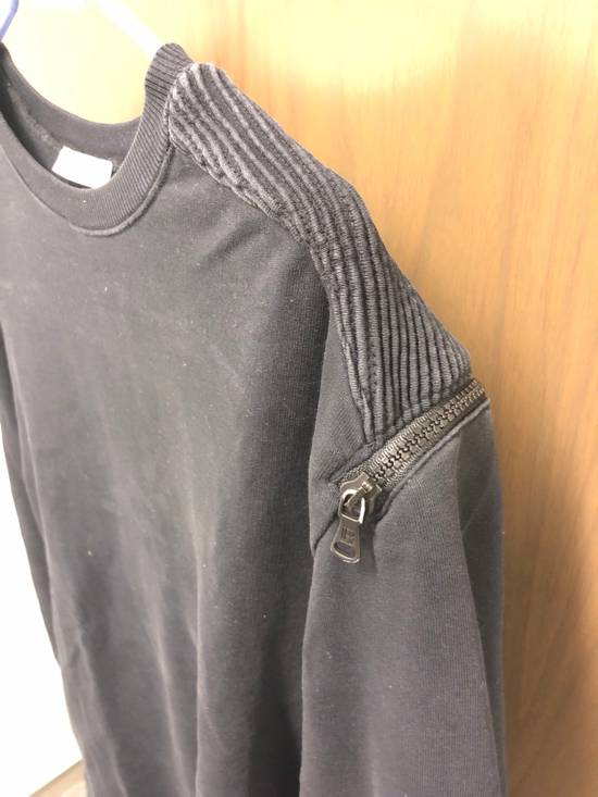 Balmain Black Oversized Balmain Biker Sweatshirt Size US L / EU 52-54 / 3 - 2