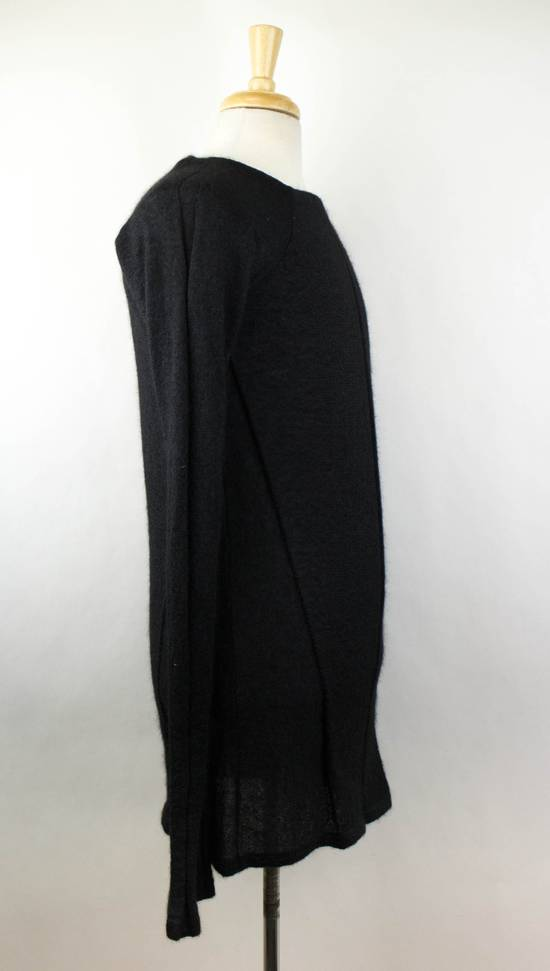Julius 7 Black Silk-Mohair 'Square Neck Panelled' Sweater Size 1/XS Size US XS / EU 42 / 0 - 2