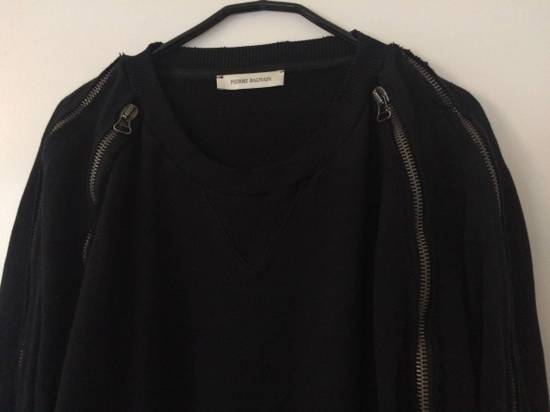 Balmain distressed asymmetrick zip sweatshirt Size US XL / EU 56 / 4 - 5