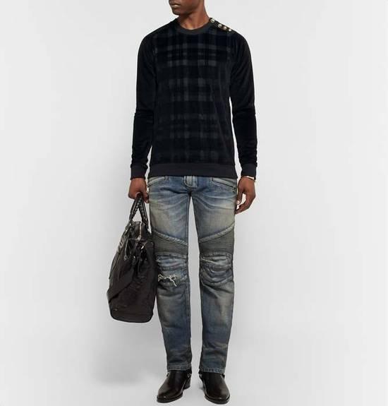 Balmain Size Small - Checked Button Shoulder Sweatshirt- FW16 - $1050 Retail Size US S / EU 44-46 / 1 - 11
