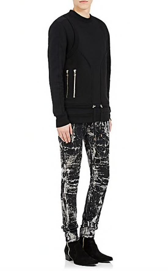 Balmain OG skinny-fit marble biker jeans by Balmain Size US 29