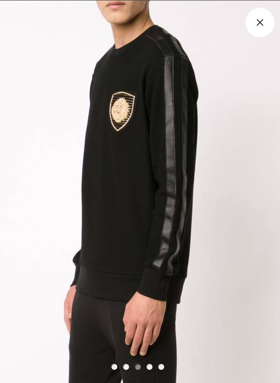 Balmain BALMAIN Embroidered Crest Badge Cotton-Jersey Sweatshirt Size US S / EU 44-46 / 1