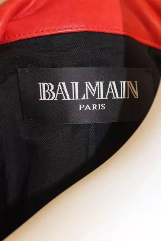 Balmain Layered Biker Leather Jacket Size US M / EU 48-50 / 2 - 6