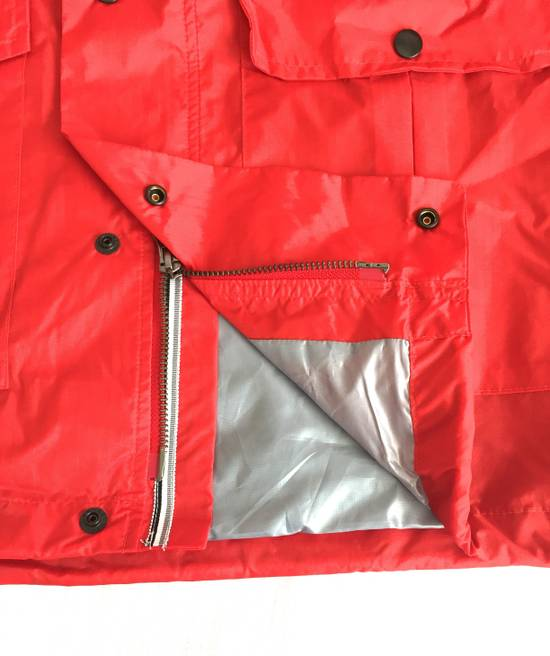Thom Browne Red Hooded Rain Parka, NWT Size US L / EU 52-54 / 3 - 4