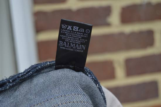 Balmain Dirty Blue Biker Jeans Size US 33 - 10