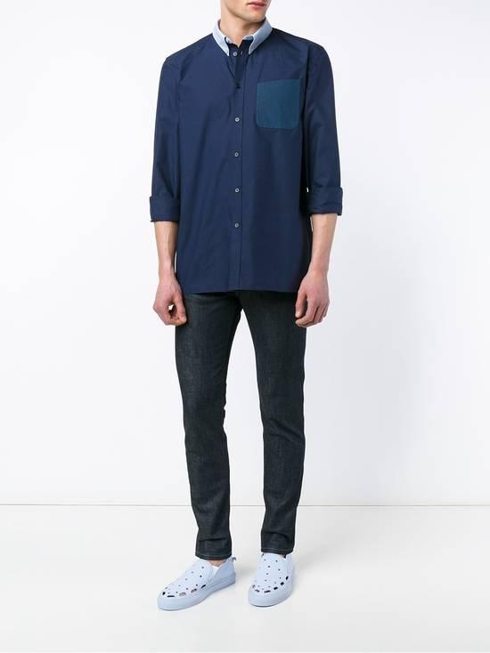 Givenchy Blue Contrast Pocket Shirt Size US S / EU 44-46 / 1 - 2