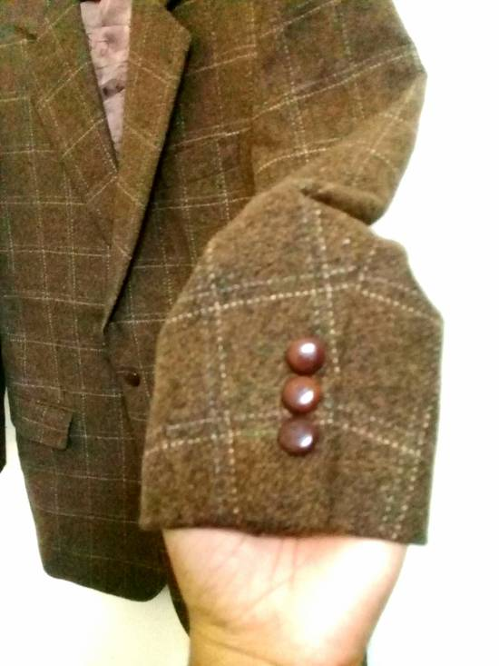 Givenchy Givenchy Gentleman Selection Couture Wool Cashmere Brown Plaid Blazer Size 46R - 4