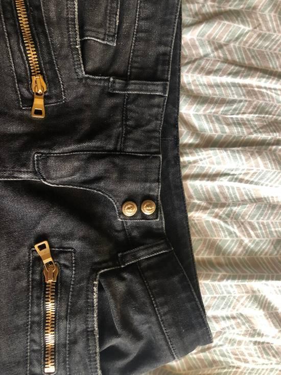 Balmain Denim Moto Jeans, Black Size US 28 / EU 44 - 3