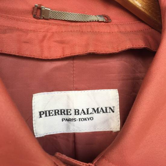 Balmain Pierre Balmain Paris 90s Signature Logo Long Trench Coat Size US S / EU 44-46 / 1 - 6