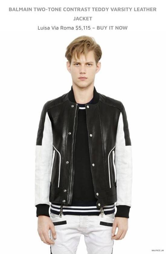 Balmain Full Leather Bomber Jacket Size US M / EU 48-50 / 2 - 5