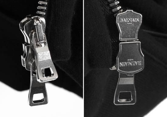 Balmain Original Balmain Leather App Black Men Hooded Sweatshirt Top Jumper in size M Size US M / EU 48-50 / 2 - 5