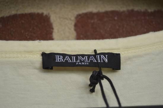 Balmain Yellow Distressed T-shirt Size US M / EU 48-50 / 2 - 3