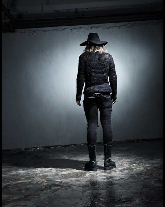 Julius Byther - black julius knit pants - like thom krom, boris bidjan saberi, silent damir doma, rick owens Size US 32 / EU 48 - 3