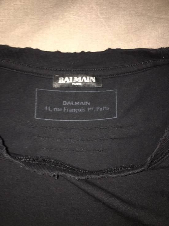 Balmain Distressed Balmain Logo Tshirt Size US L / EU 52-54 / 3 - 3