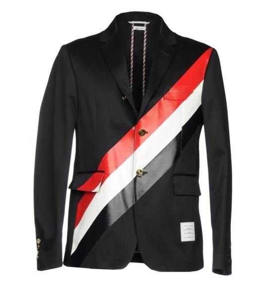 Thom Browne Brand New Thom Browne Stripe Embroidered Blazer Size 46S