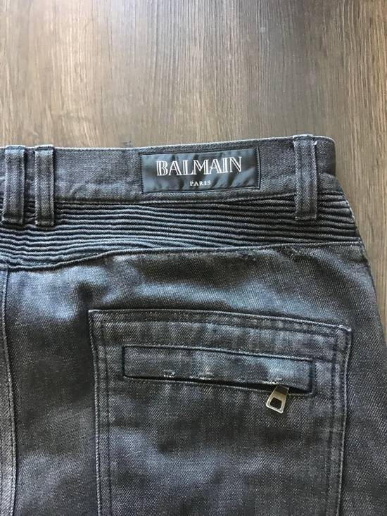 Balmain Decarnin Era Biker Denim Size US 33 - 3
